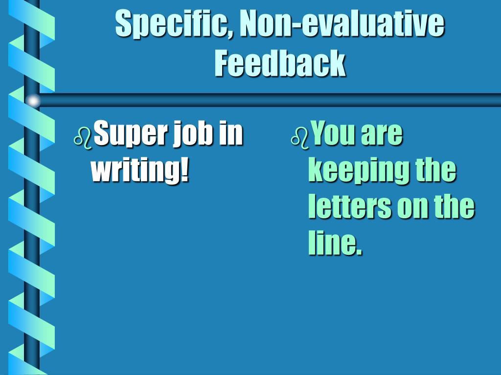 Super job in writing!