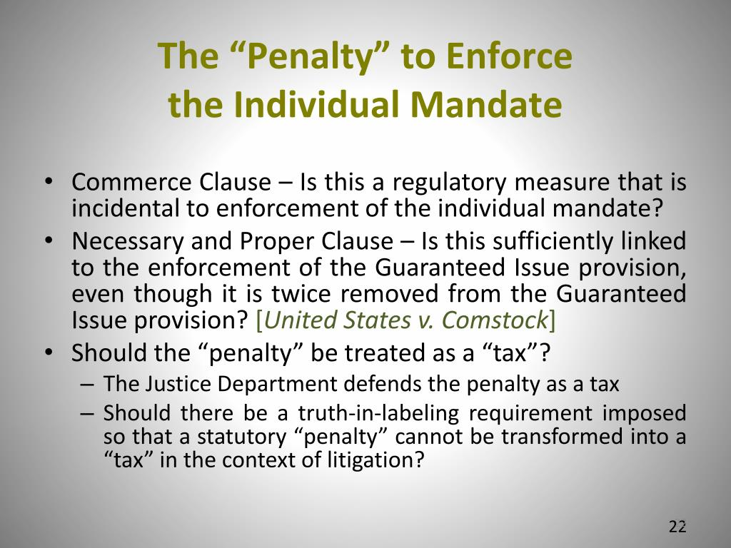 "The ""Penalty"" to Enforce"