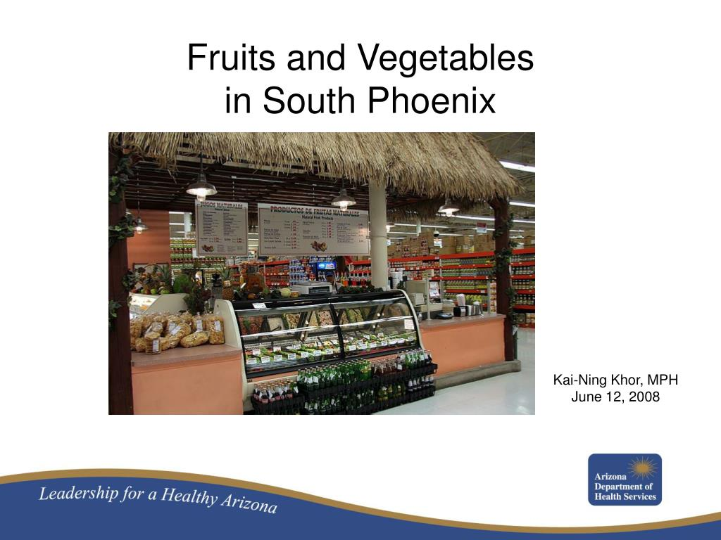 fruits and vegetables in south phoenix l.