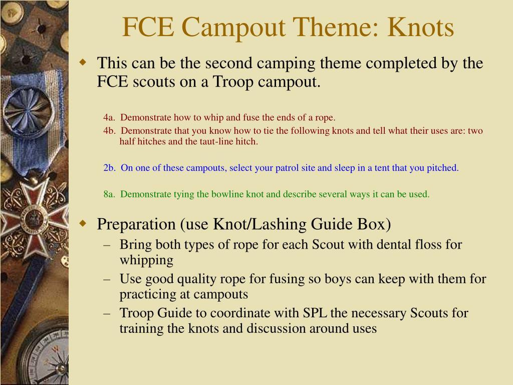FCE Campout Theme: Knots
