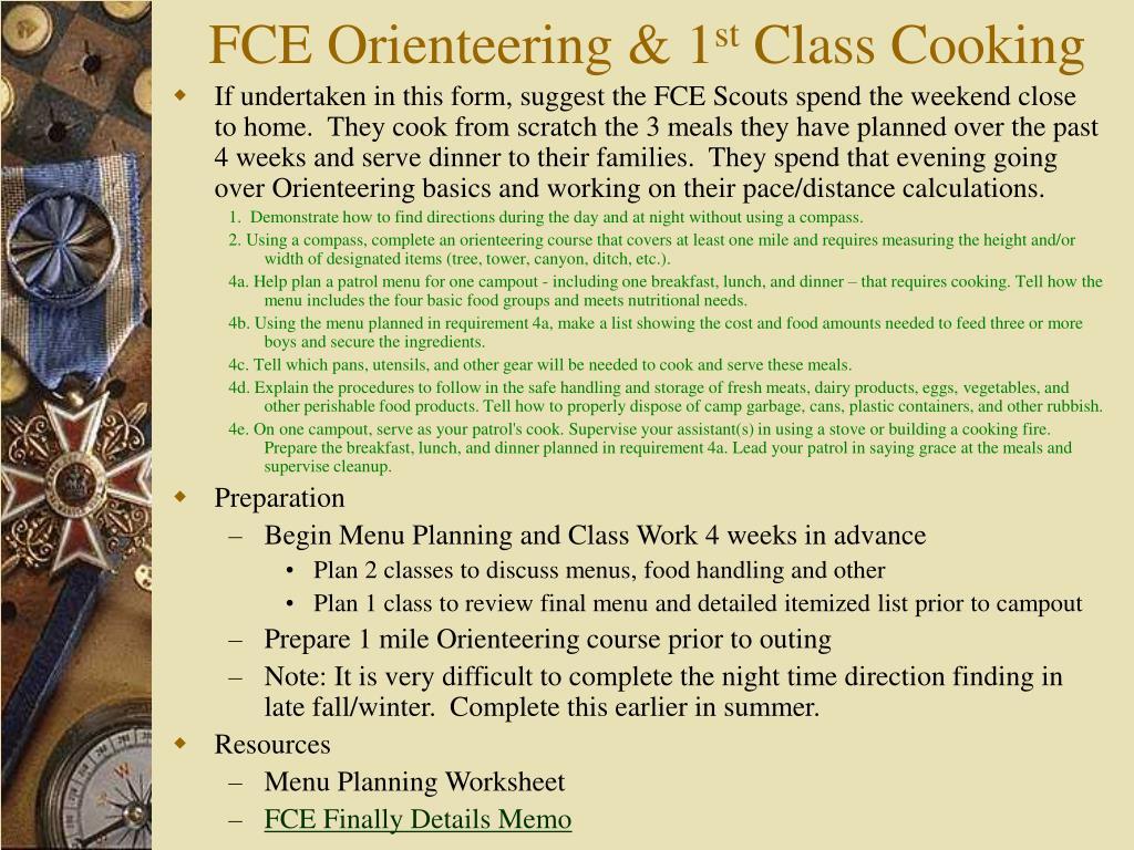 FCE Orienteering & 1
