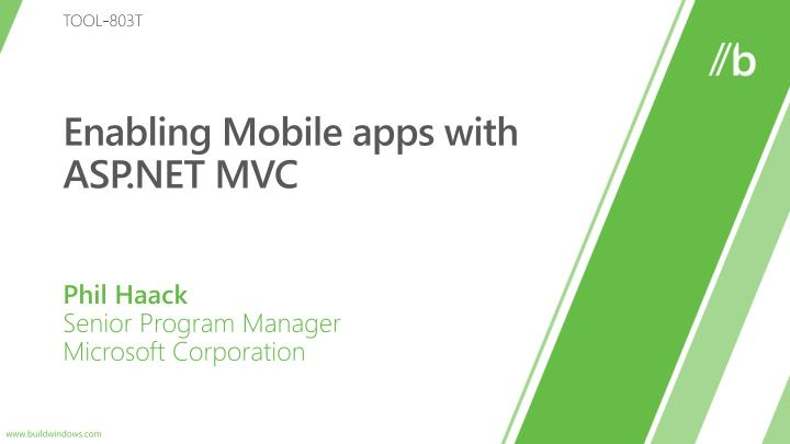 enabling mobile apps with asp net mvc