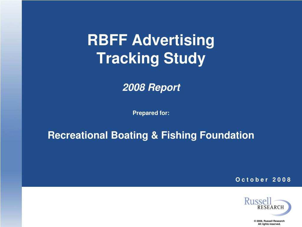 rbff advertising tracking study 2008 report l.