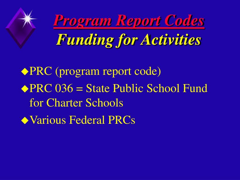 Program Report Codes