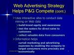 web advertising strategy helps p g compete cont8