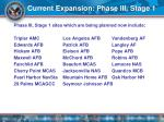 current expansion phase iii stage 1