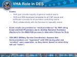vha role in des12