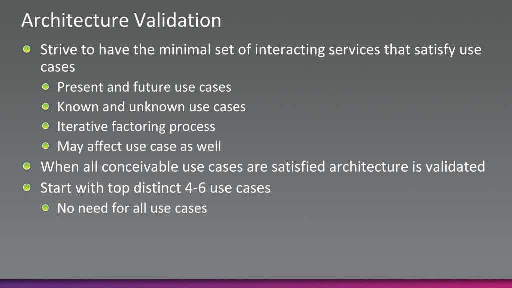 Architecture Validation