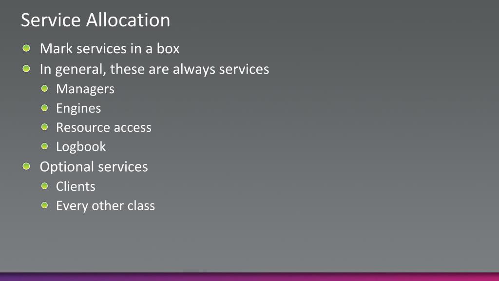 Service Allocation
