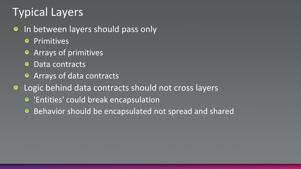 Typical Layers