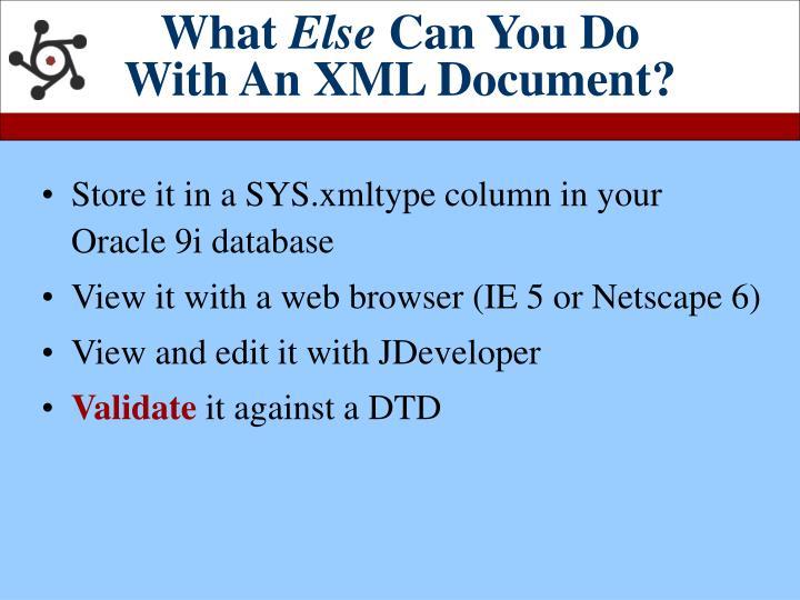 how to write xml dom classic