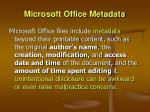 microsoft office metadata