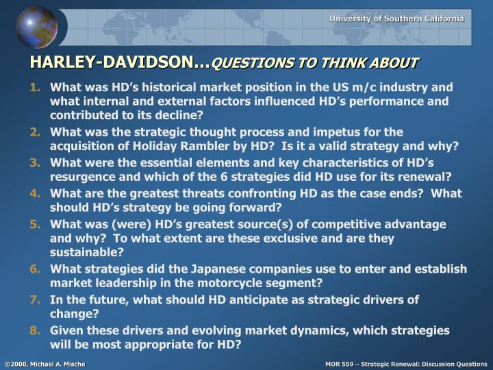 Harley davidson questions to think about