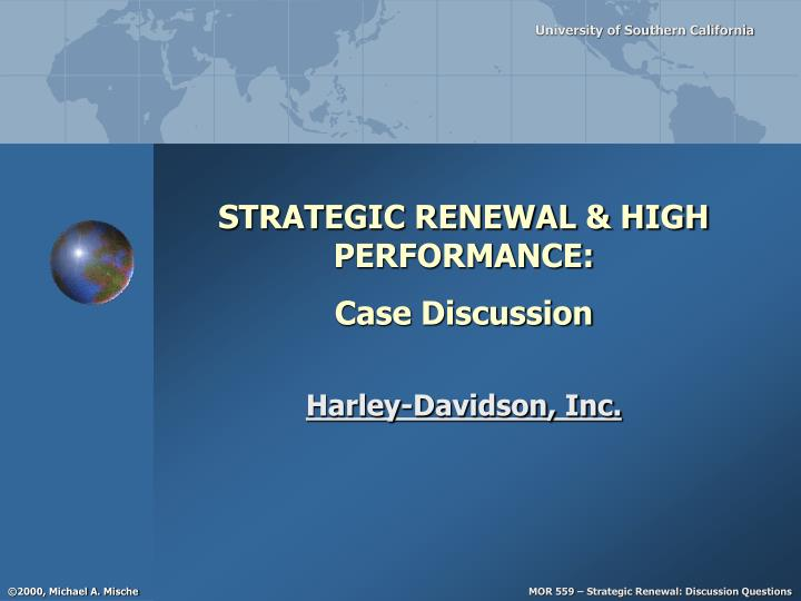 strategic renewal high performance case discussion n.