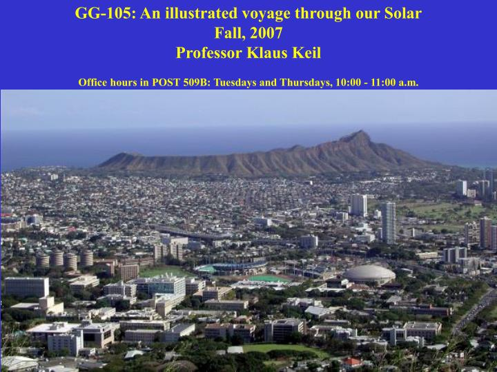 GG-105: An illustrated voyage through our Solar