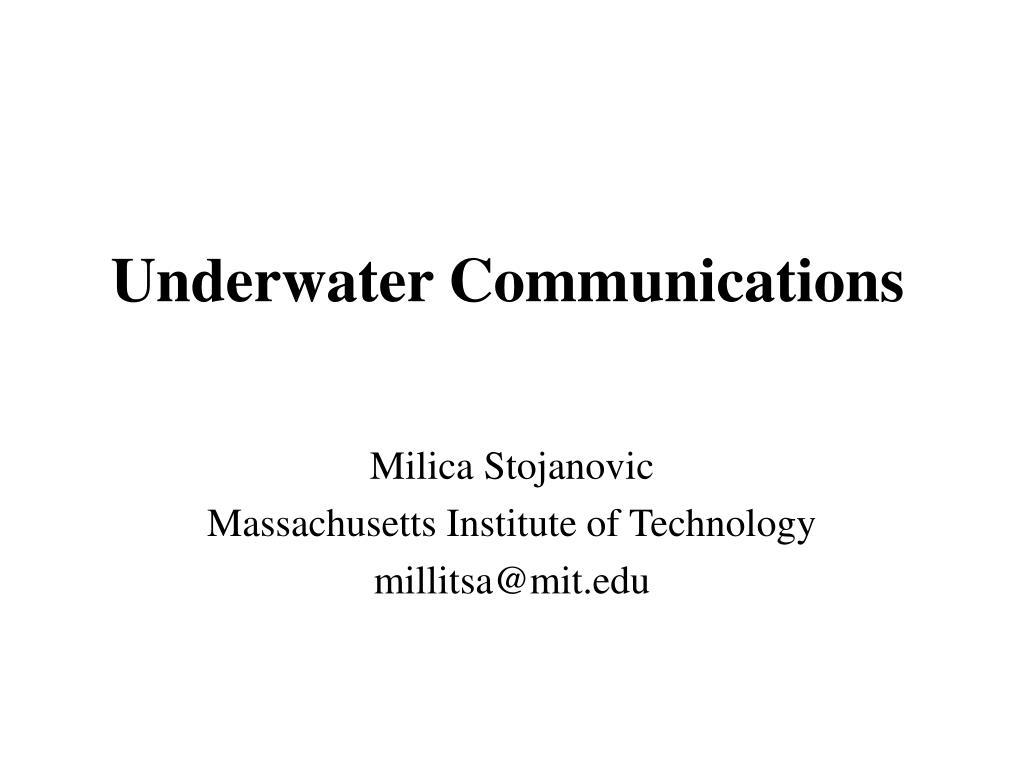 underwater communications l.