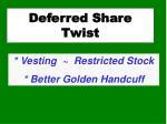 deferred share twist