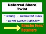 deferred share twist1