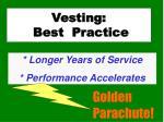vesting best practice1