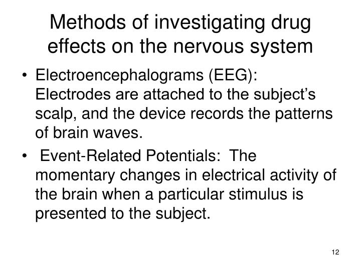 drugs the nervous system This resource contains a starter where students have to classify drugs as depressants or stimulants it then goes onto an activity where students have to predict what different drugs do to the synapses the last slide contains a link to a website which.