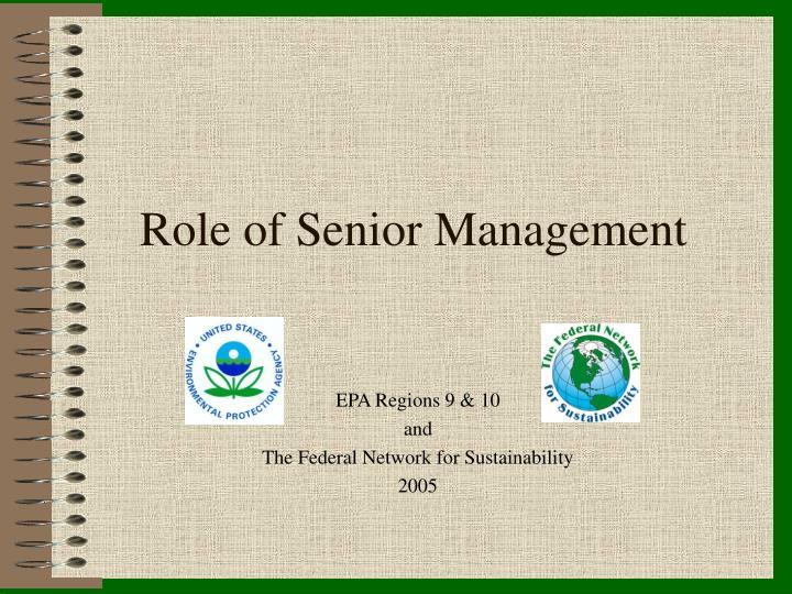 role of senior management n.