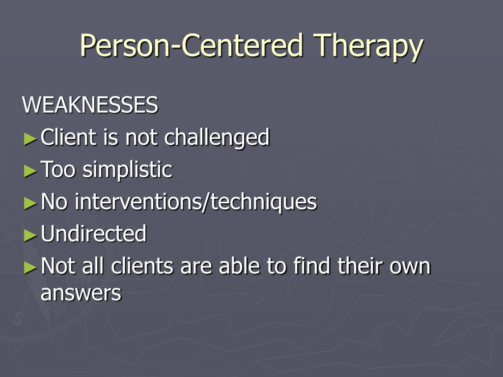 comparing the existential therapy and person centered therapy