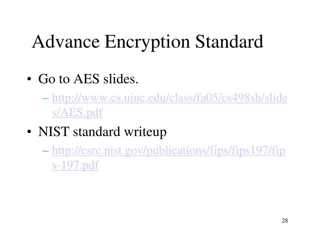 Advance Encryption Standard