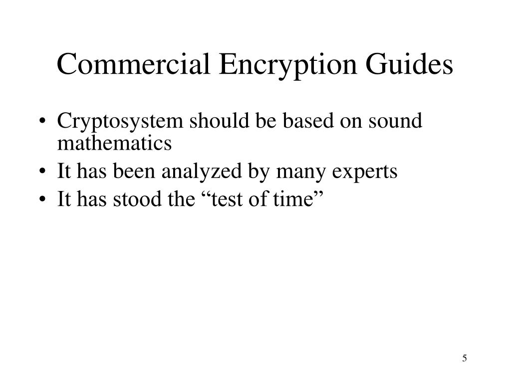 Commercial Encryption Guides