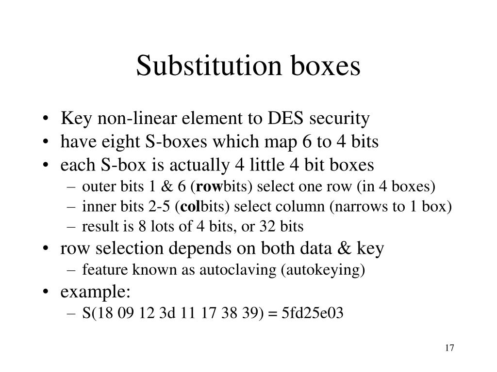 Substitution boxes