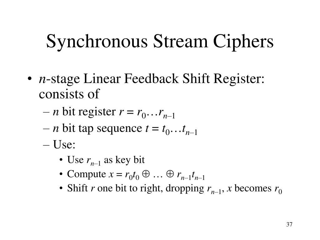 Synchronous Stream Ciphers