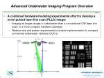 advanced underwater imaging program overview