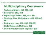 multidisciplinary coursework