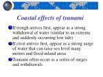 coastal effects of tsunami