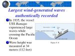 largest wind generated waves authentically recorded