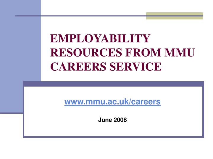 employability resources from mmu careers service n.