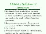 additivity definition of interaction27