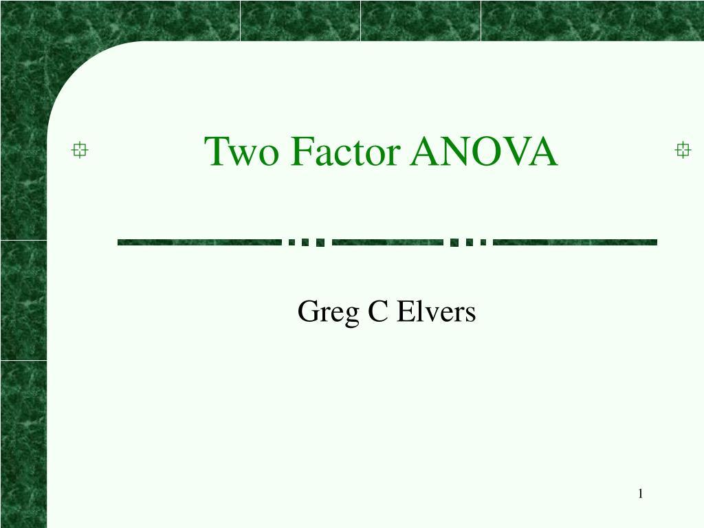 two factor anova l.