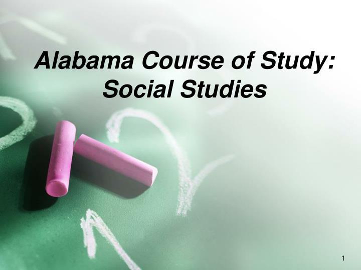 alabama course of study social studies n.