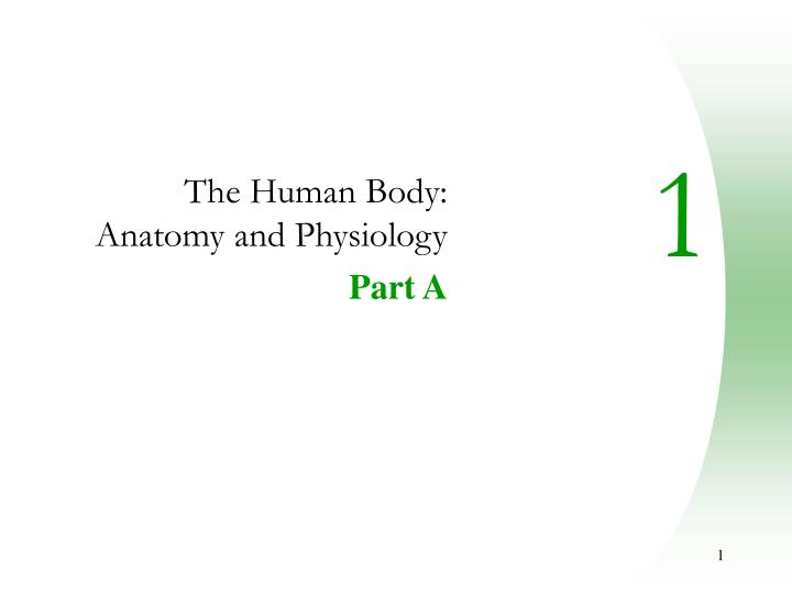 the human body anatomy and physiology part a n.