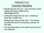 freestyle common mistakes