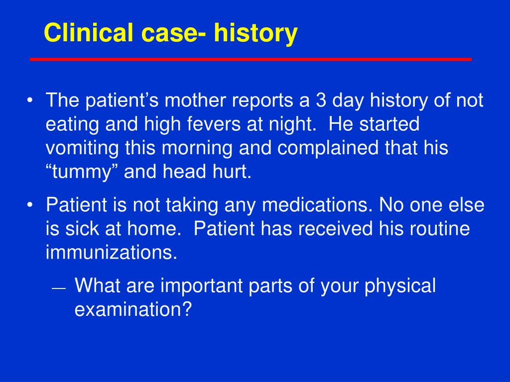 Clinical case- history