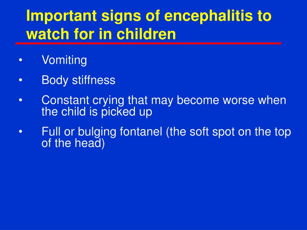 Important signs of encephalitis to watch for in children