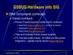 gsbug hardware info sig13