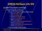 gsbug hardware info sig15