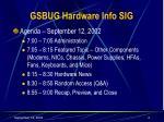 gsbug hardware info sig2