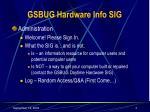 gsbug hardware info sig3