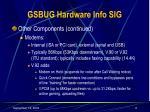 gsbug hardware info sig6