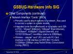 gsbug hardware info sig8