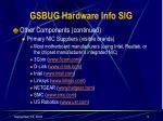 gsbug hardware info sig9