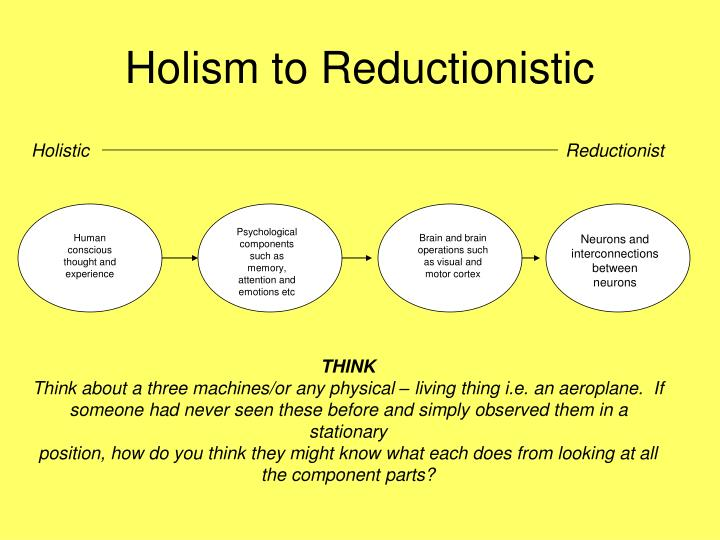 holism and reductionism essay psychology Home a level and ib  psychology  holism and reductionism holism and reductionism  how do i evaluate holism in psychology,.